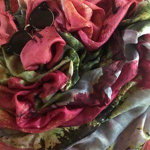Erfurt Tucher   Cherry Blossom Vintage Silk Scarf